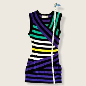 RD Style Color Banded Bodycon Knit Mini Dress